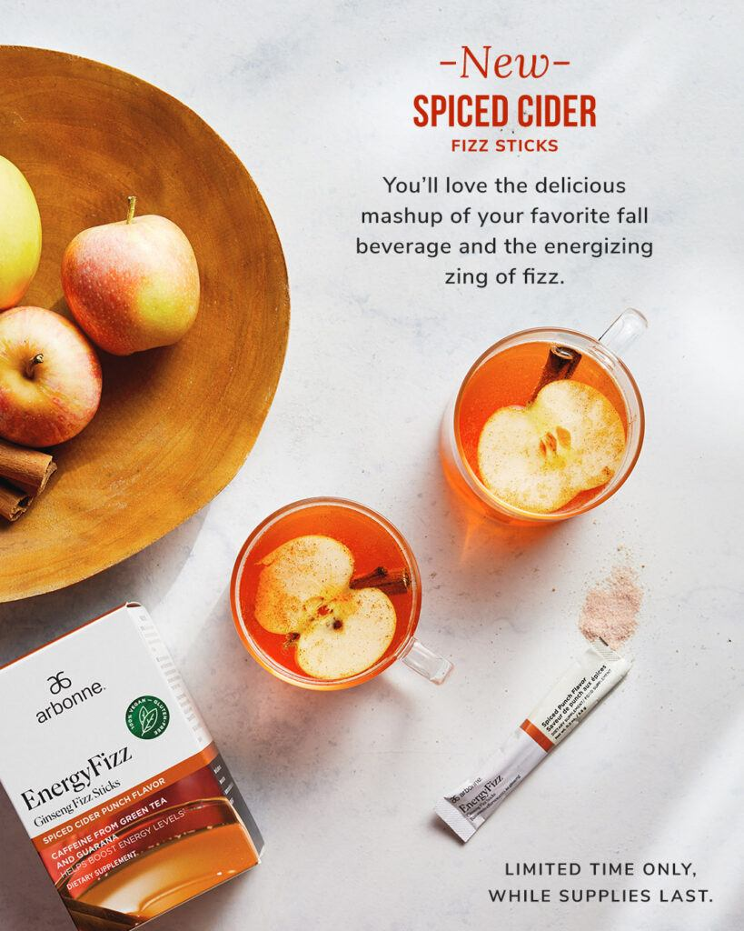 Arbonne Apple Cider Energy Fizz Sticks
