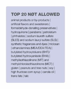 Top 20 of 2000 Not Allowed Ingredients List