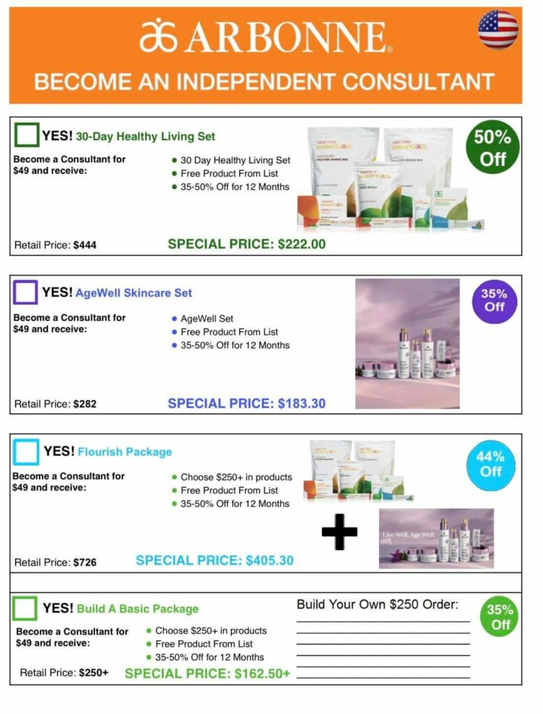 Arbonne Age Well Special Price for Consultants