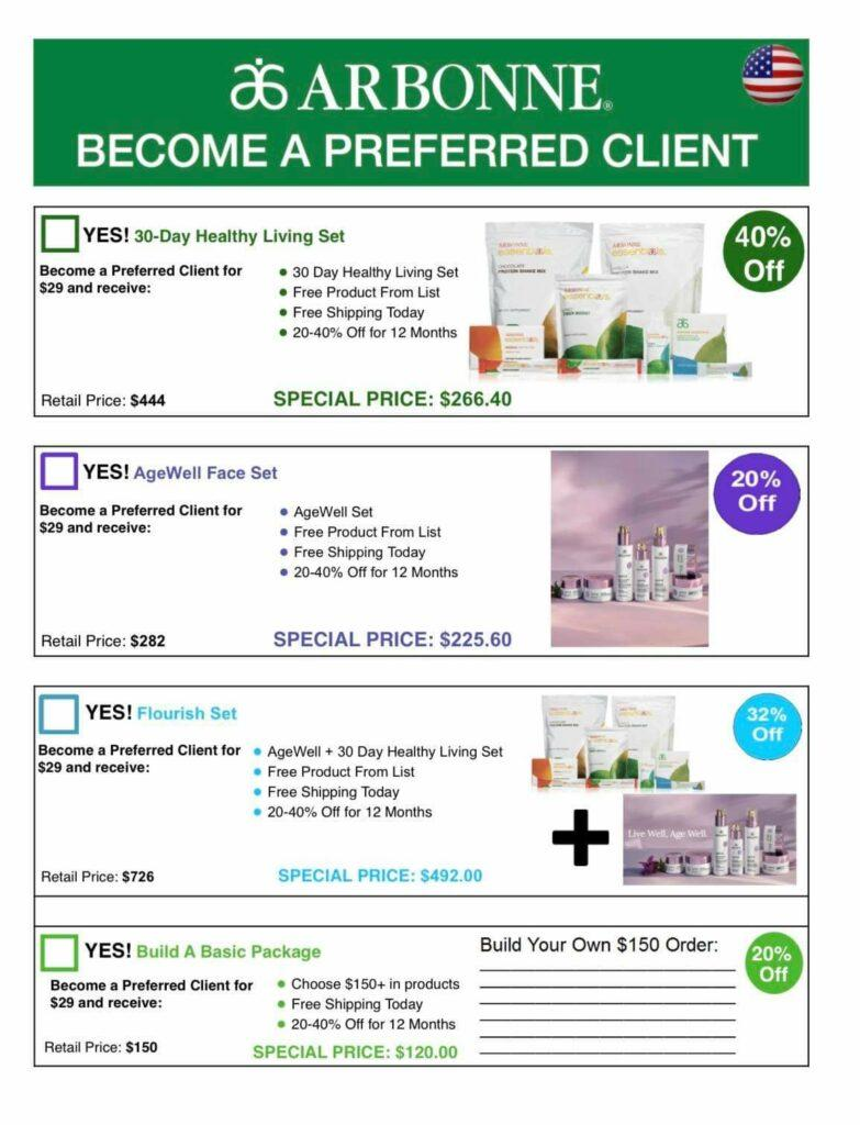 Arbonne Age Well Special Price for Preferred Clients